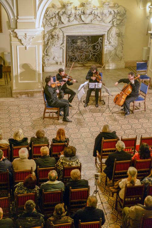 """Concert al cvartetului de coarde """"Tiberius"""" la Castelul din Carei"""