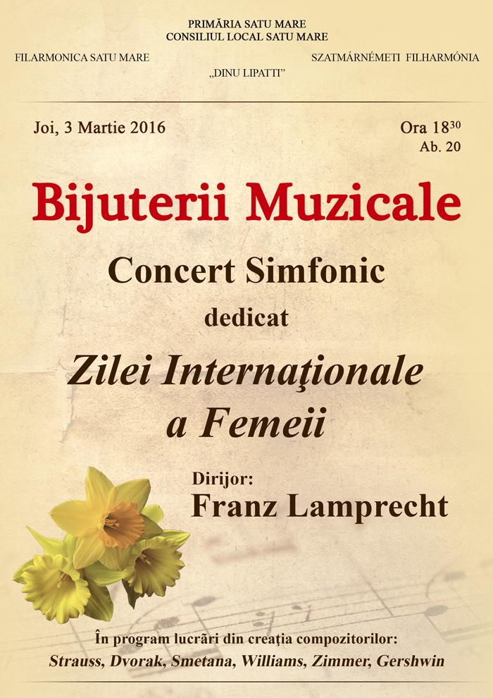 """Concert de """"Ziua Internațională a Femeii"""" la Filarmonica """"Dinu Lipatti"""""""