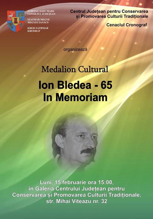 Medalionul cultural – In memoriam Ion Bledea