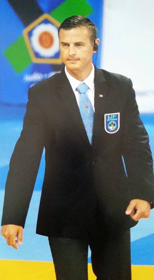Vasile Fușle jr., arbitrează la Cupa Mondială de Judo de la Roma