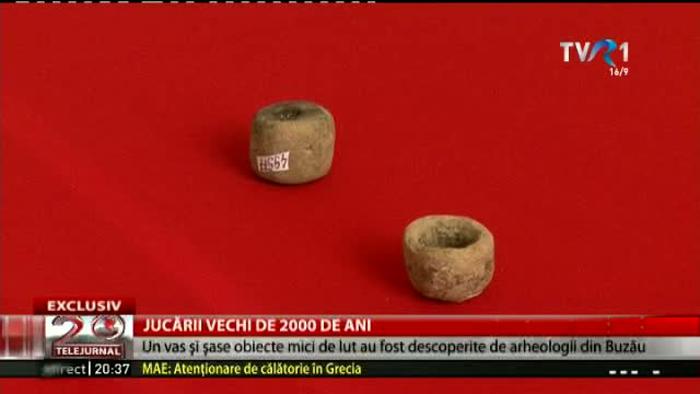 Jucării de 2.000 de ani, descoperite de arheologii români