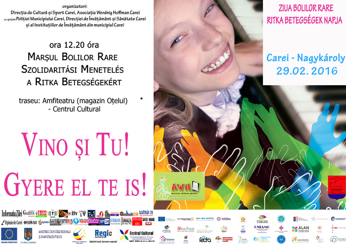 """""""Ziua Internațională a Bolilor Rare"""" va fi marcată la Carei"""