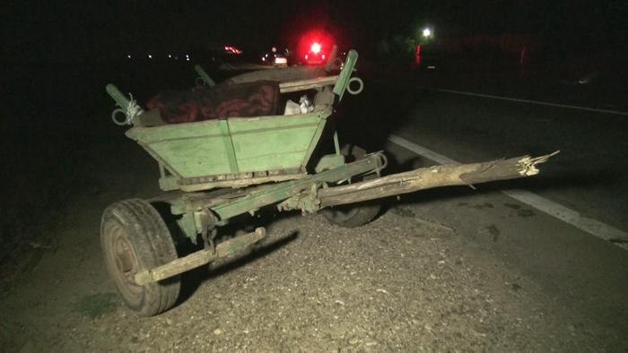 Un sătmărean a spulberat cu mașina o căruță. Șoferul a fugit de la locul accidentului
