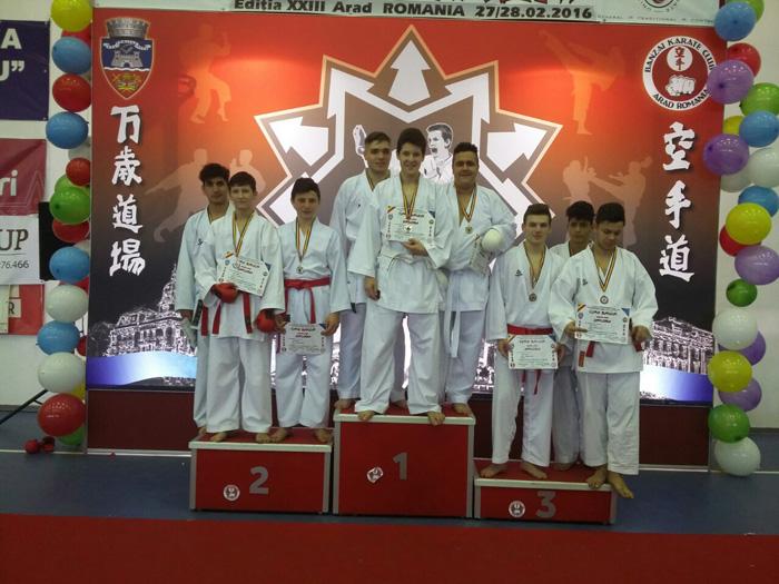 "Locul II la general pentru karateka de la CSM Satu Mare, la Cupa ""Banzai"""