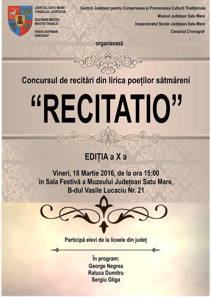 """""""Recitatio"""", la a X-a ediție"""