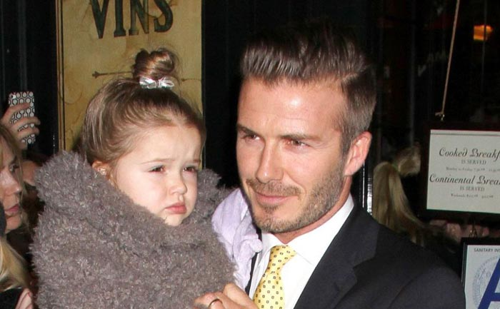 "David Beckham, ales cel mai ""glamour tătic"""