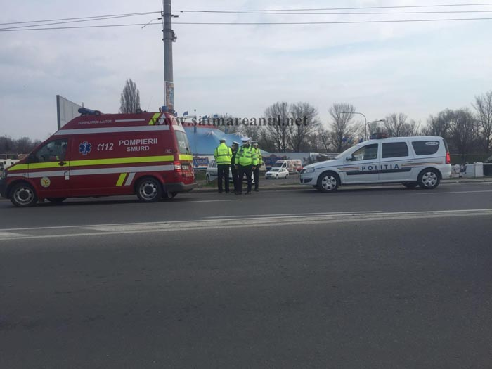 Biciclist accidentat pe Podul Decebal (Foto)