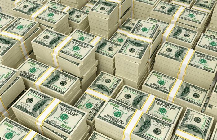 Dolarul american a scăzut cu doi bani