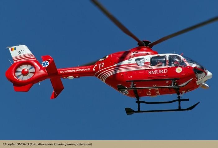 Sătmărean, transportat cu elicopterul SMURD la Cluj