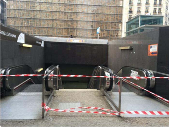Explozie la o stație de metrou din Bruxelles