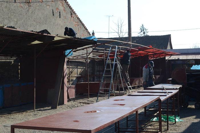 Reparații la Piața de Vechituri din Satu Mare (Foto)