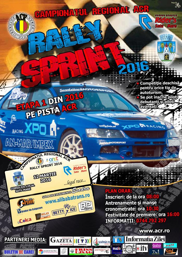 """Începe Campionatul Regional ACR de """"Rally Sprint"""" 2016"""