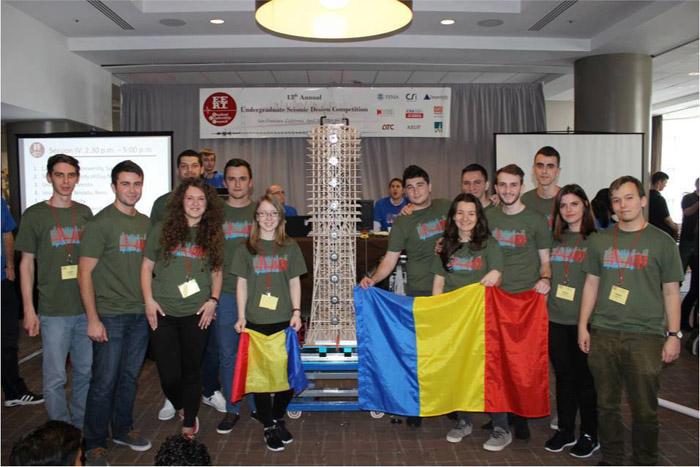 Studenții arhitecți din Cluj, locul I la Concursul de Design Seismic din San Francisco
