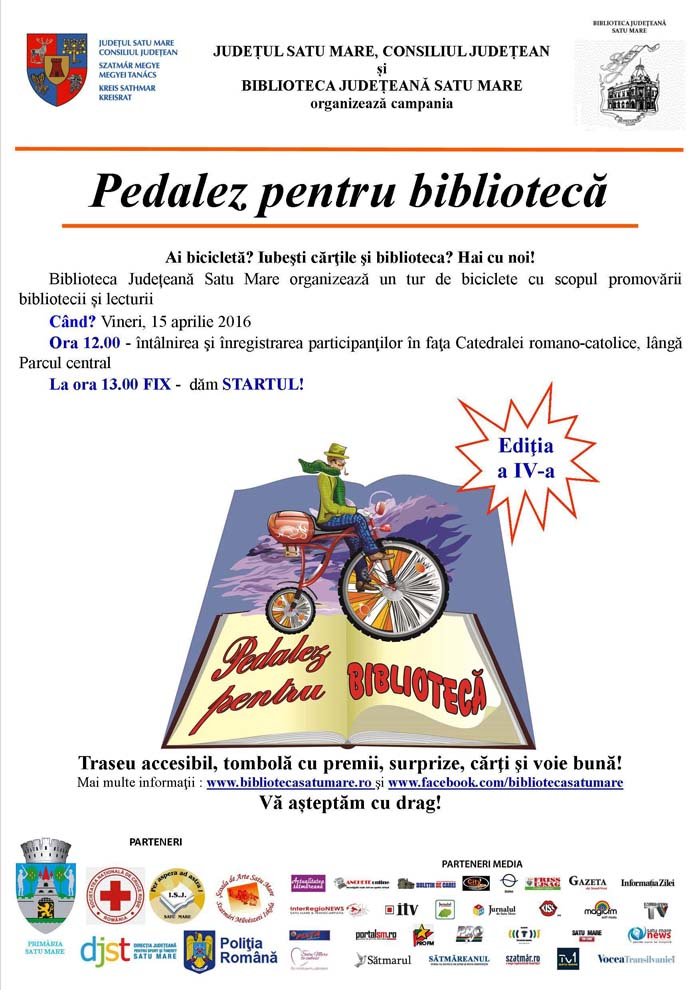 """Campania """"Pedalez pentru bibliotecă"""", la o nouă ediție"""