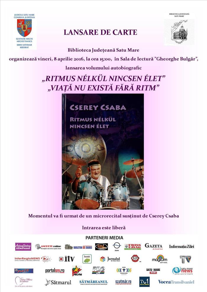 Lansare de carte autobiografică la Biblioteca Judeţeană Satu Mare
