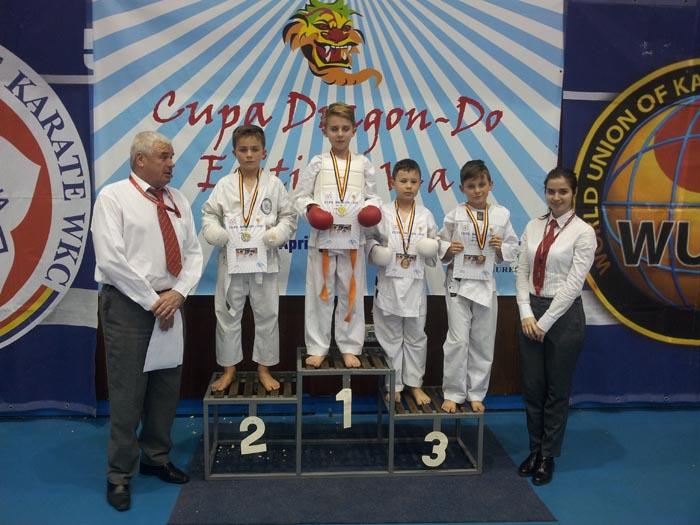 Karate: 13 medalii pentru copiii și minicadeții de la CSM Satu Mare, la Cupa Dragon Do