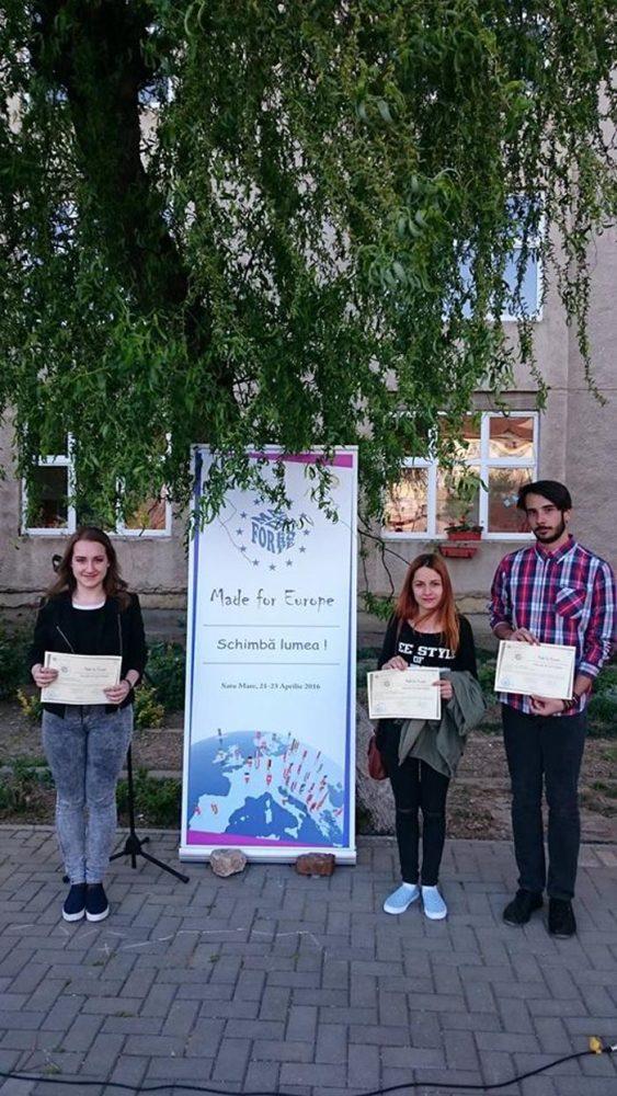 """Liceul Teoretic German a câștigat trei premii la Concursul Național """"Made for Europe"""""""