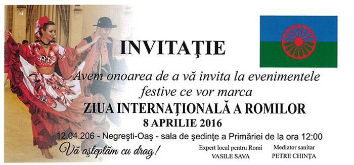"""""""Ziua Internațională a Romilor"""" va fi sărbătorită, marți, la Negrești-Oaș"""