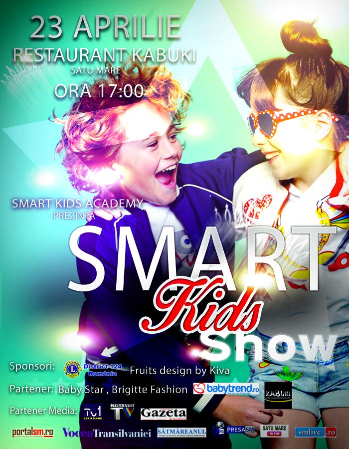 """""""Smart Kids Show"""", sâmbătă, la Satu Mare"""