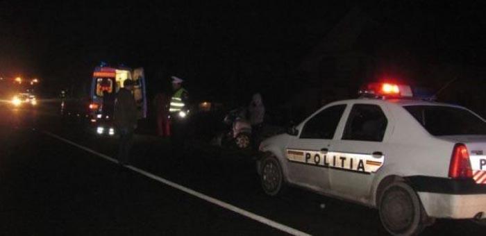 Mașină înmatriculată în Satu Mare, furată și distrusă într-un accident