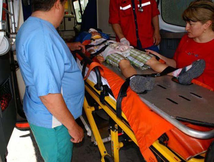 Copil de 5 ani, accidentat în Noroieni
