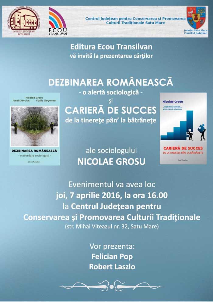 Sociologul Nicolae Grosu își prezintă cărțile la Centrul de Creație