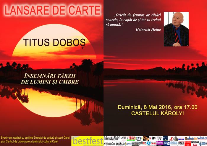 Lansare de carte la Castelul Karolyi