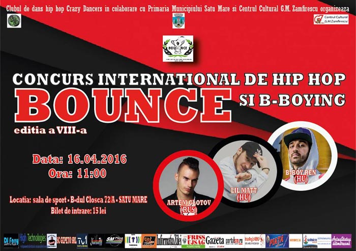 Concurs Internațional de Hip Hop și B-Boying – BOUNCE, ediția a VIII-a