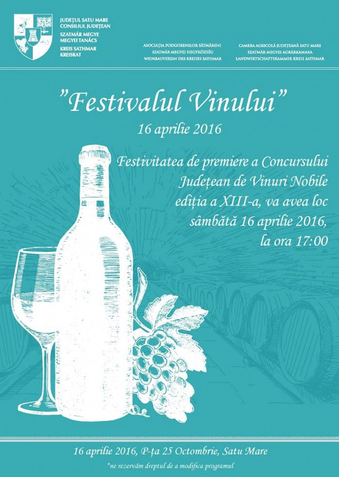 Festivalului Vinului Sătmărean, la a IV-a ediție