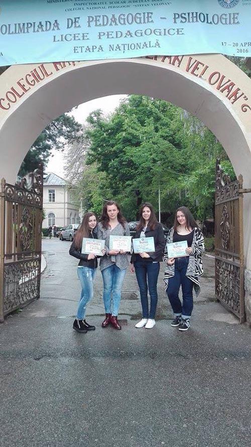 Eleve de la Slavici, premiate la Olimpiada Națională de Pedagogie-Psihologie