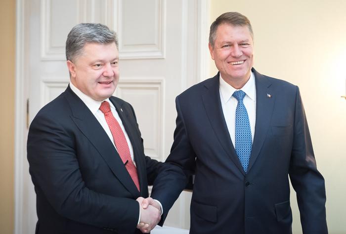 Președintele Ucrainei, primit la Palatul Cotroceni