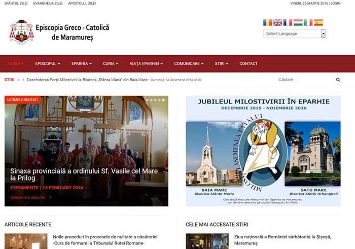 Episcopia Greco-catolică de Maramureș are site oficial