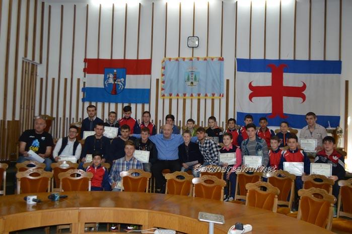Luptătorii de la CS Satu Mare, premiați de primarul Dorel Coica (Foto&Video)
