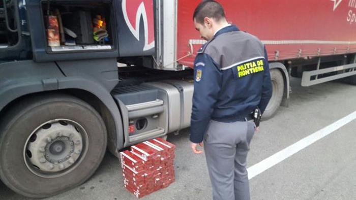 Ucrainean prins cu țigări de contrabandă