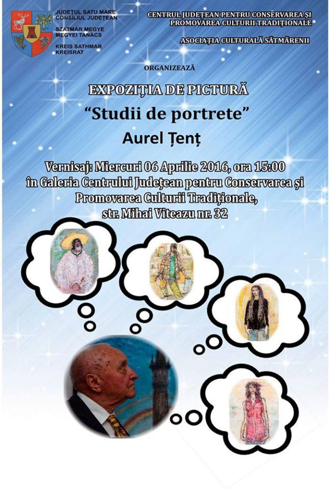 """Studii de portrete"", marca Aurel Țenț"