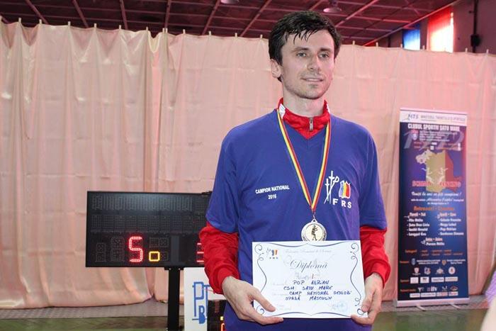 Spadasinul Adrian Pop, campion național