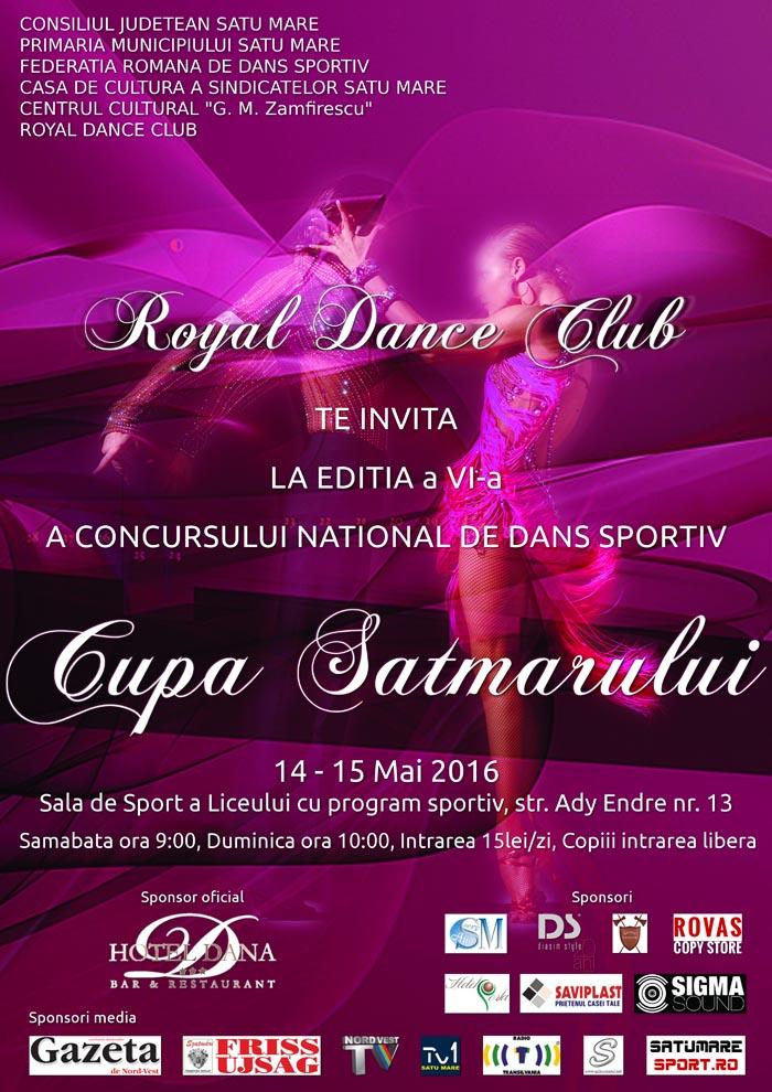 """Concursul Național de dans sportiv """"Cupa Sătmarului"""", la a VI-a ediție"""