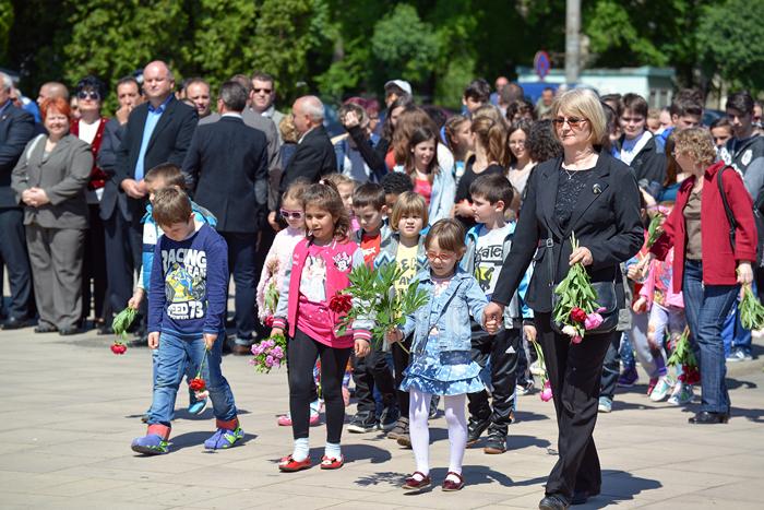 Ziua de 9 Mai, marcată la Monumentul Ostașului Român din Carei (Galerie foto)
