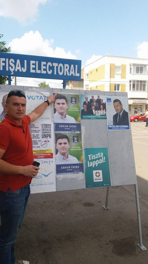 Csaki Csongor susține că Adrian Cozma nu respectă afișajul electoral