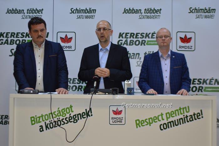 """Kelemen Hunor: """"Kereskenyi Gabor este soluția ideală pentru municipiul Satu Mare"""""""