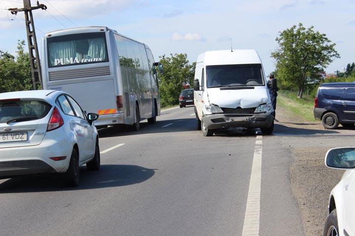 Accident la ieșirea din Satu Mare (Foto)