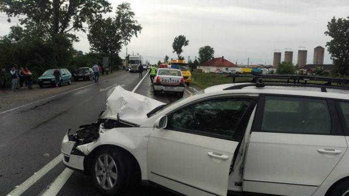 Tamponare violentă la ieşirea din Satu Mare (Foto)