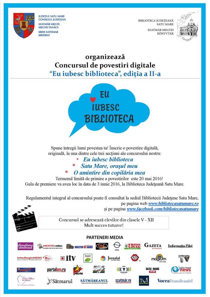 Concurs de povestiri digitale la Biblioteca Județeană Satu Mare