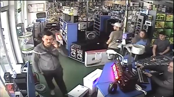 Hoțul de la magazinul Pentagon a fost recunoscut(Video)