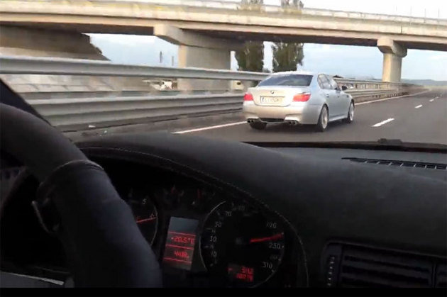 American prins cu 216 km/h pe autostrada A1