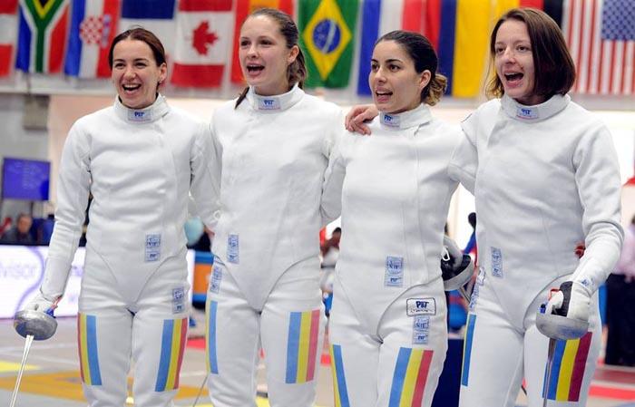 Echipa de spadă feminin a României, primul loc în clasamentul Cupei Mondiale