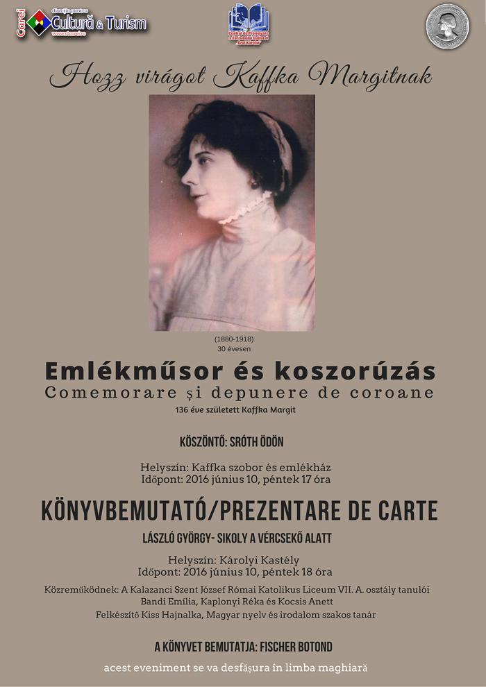 Comemorare Kaffka Margit la Carei