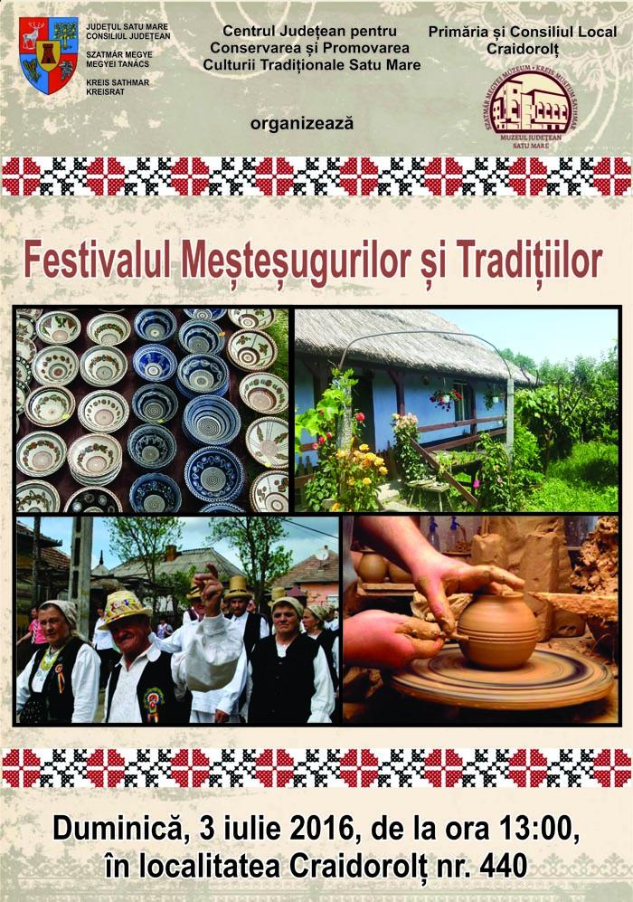 Festivalul Meștegurilor și Tradițiilor în localitatea Craidorolț