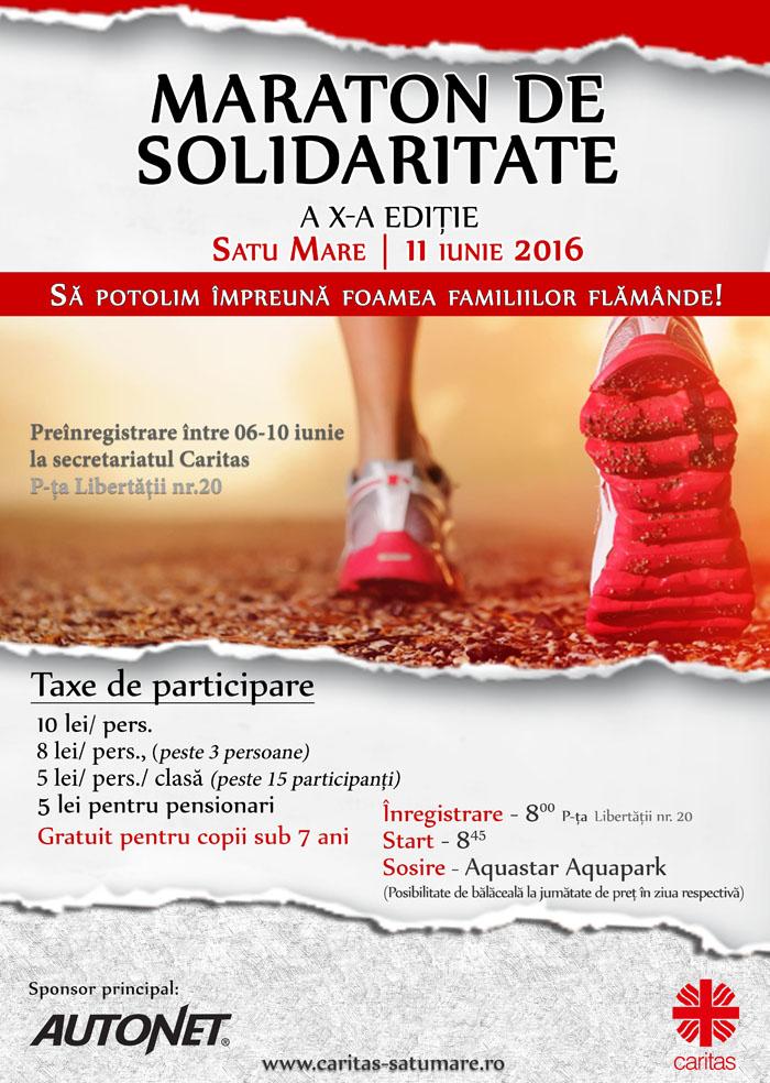 Au început înregistrările pentru Maratonul de solidaritate