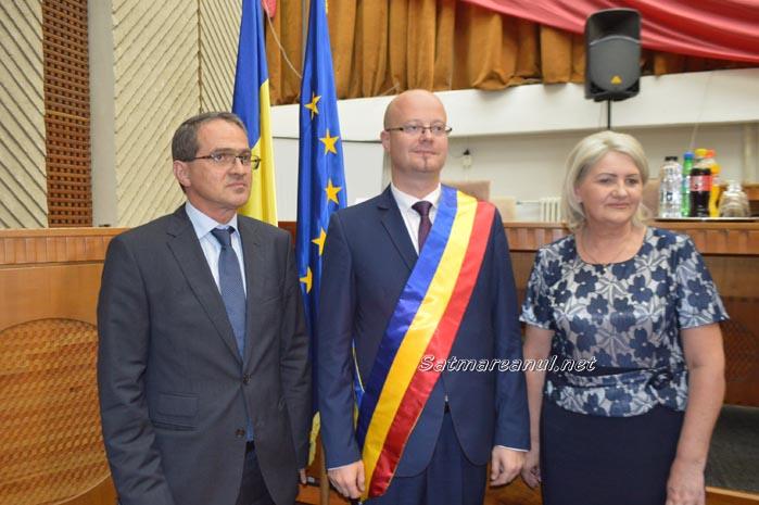 Doina Feher și Adrian Albu, aleși viceprimari la Satu Mare (video)